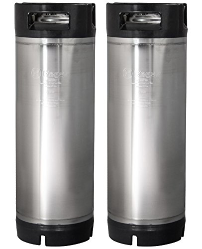 Kegco 2X-KM5G-RBT 5 Gallon Ball Lock Keg - Rubber Handle - Set of 2