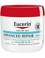Eucerin Advanced Repair Cream - Fragrance Free, Full Body Lotion for Very Dry Skin - 16 oz. Jar