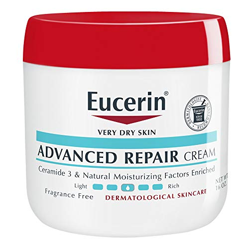 (Eucerin Advanced Repair Cream - Fragrance Free, Full Body Lotion for Very Dry Skin - 16 oz. Jar)