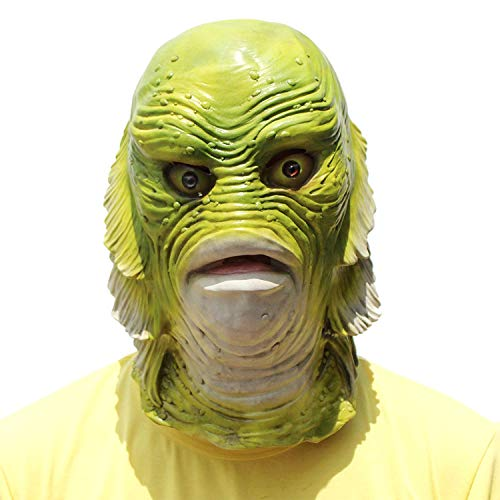 Fish MaskHalloween Animal Head Mask Creature from The Black Lagoon]()