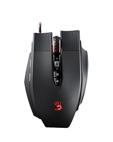 Bloody TL90 Laser Gaming Mouse Macro Setting 8200 DPI, Infrared-Micro Switch Light Strike