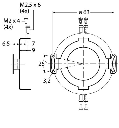 1544613 - RME 2 Mounting Hardware for Hollow Shaft Rotary