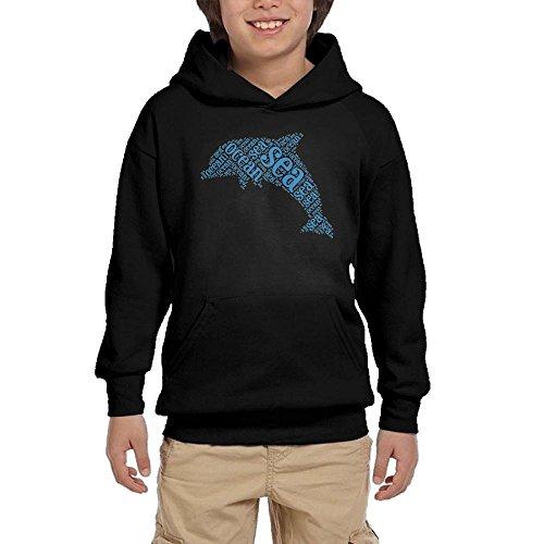 Pulongpoq Ocean Dolphin Youth Boys/Girls Long Sleeve Hoodie Sweatshirt Pullover Hood SozeKey - Irving In Malls