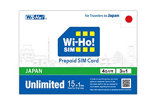 Prepaid SIM Card for Japan 15 Days + Extra 1 Day Unlimited Data/4G-LTE High-Speed/Hotspot/Broad Coverage