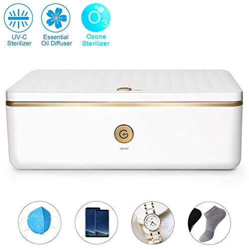 Deeabo UV Sterilizer Box, Ozone Automatic Disinfection Box Professional UV Box Multifunctional UV Sterilizer for Phone…