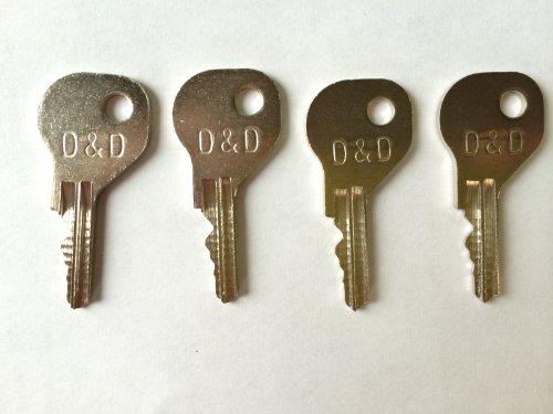 D&d Magna Latch Replacement Keys 4 Pack