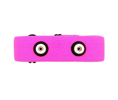 Bestart Universal Replacement Heart Rate Monitor Soft Strap for Garmin Polar Wahoo (Pink)