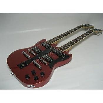 zenison double neck electric guitar white 12 string 6 string musical instruments. Black Bedroom Furniture Sets. Home Design Ideas