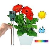 Soil pH Meter 3-in-1 Moisture Light & pH Test Kit, for Home, Garden, Lawn, Farm, Plants, Herbs & Gardening. Indoor Outdoor Plant Care Soil Tester Tool (Green)