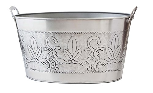 Old Dutch 18 by 10-1/2 by 9-1/2-Inch Party Tub, 5-1/2-Gallon (Beverage De Tub Lis Fleur)