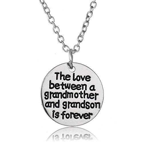 Yesido. Round Tag Pendant Necklace Jewelry Gift Women Girls