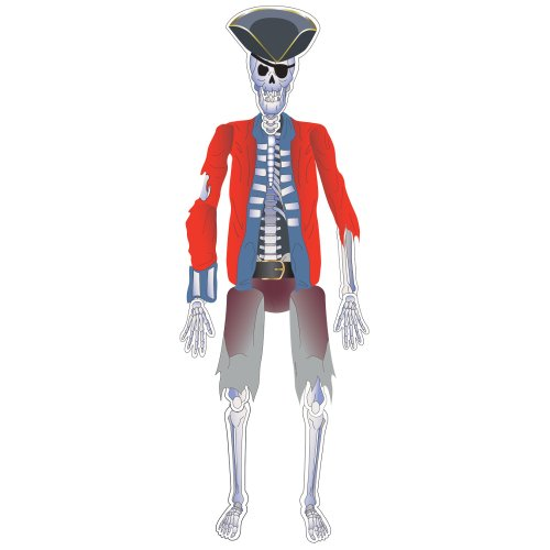 Creative Converting Buried Treasure Pirate Skeleton Jointed Cutout