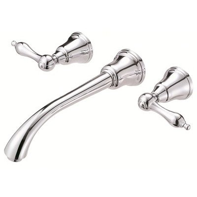 Fairmont Wall Mounted Bathroom Sink Faucet with Double Lever Handles Finish: Chrome