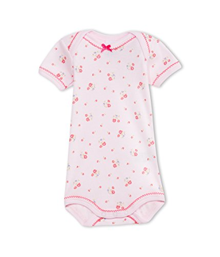 (Petit Bateau Baby Girls' S/S Flower Print Bodysuit - Pink-24M)