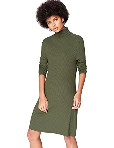 find-Womens-Rib-Swing-Long-Sleeve-Dress