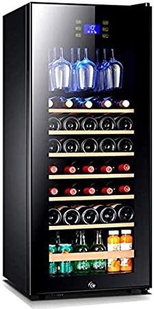 YFGQBCP Vino Frigorífico con Control táctil, Zona Uniforme, Independiente Individual refrigerador y Chiller for los vinos Blancos y Rojos