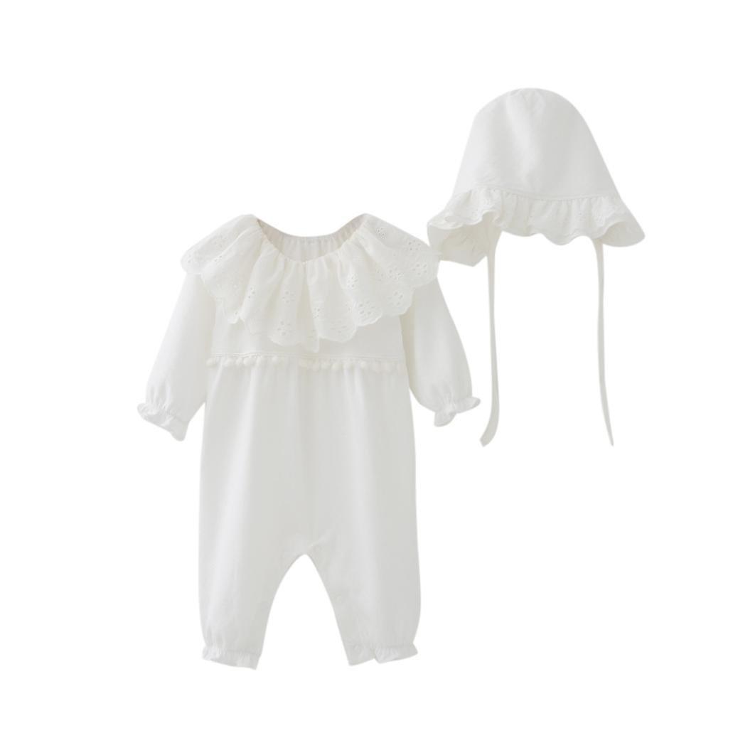 Bekleidung Longra Neugeborenes Baby M/ädchen Strampler Bodysuit Jumpsuit Kleidung Set 0-18Monate M/ütze H/üte Baby Langarm Overall Spielanzug Babykleidung