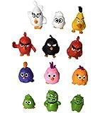 Angry Birds Movie Mini Figure Toys Cake Toppers 12PCS A Set Mini Model Height 3-5cm