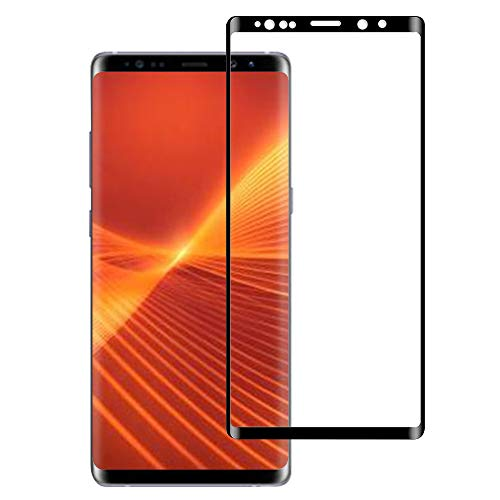Galaxy Note 9 Screen Protector【Case Friendly】 Full Coverage 3D Curved Tempered Glass Anti-Scratch Curved Edge Ultra Clear 9H Hardness for Samsung Galaxy Note 9 (Black)