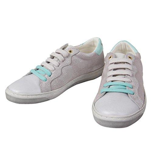 Leder M盲dchen PANTOFOLA Silver Gr枚脽e 56 Kinder ORO D Sneaker 31 qTttZI