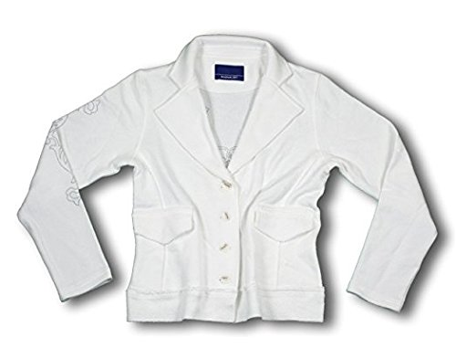 Reebok Womens TURN BACK TIME Blazer, Light Jacket, White (Medium)