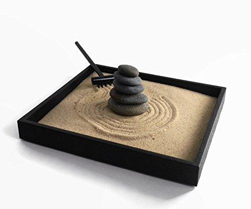 Stacking Stones Zen Garden Desktop Gift Ideas for Office Decor Relaxing  Desk Accessories - Handmade Natural Mini Zen Garden Kit with Stackable  Rocks Nature ...