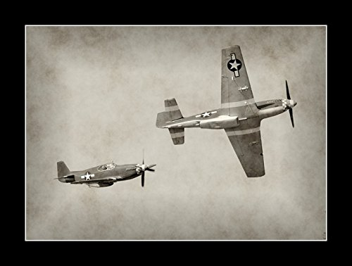 - 8 x 10 All Wood Framed Photo Wwii Fighter Planes
