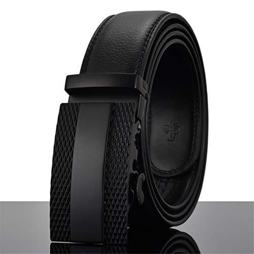 JUIHUGN Designers Men Automatic Buckle Leather Luxury Belt Business Male Alloy Buckle Belts for Menhomme X 120cm