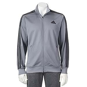 Adidas Men's Track Full Zip Jacket Medium Gray