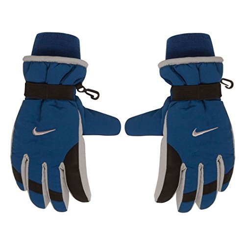 Nike Unisex Youth's Insulated Strap Blue/Gray Winter Gloves size 8/20
