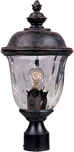 Maxim Lighting 3426WGOB Carriage House DC-Outdoor Pole/Post Mount 1-LT Lantern ()