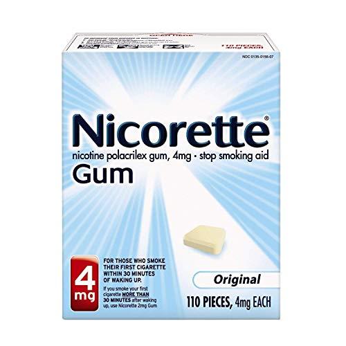 Nicorette Stop Smoking Aid 4 mg Original Gum - 110 ct, Pack of 2