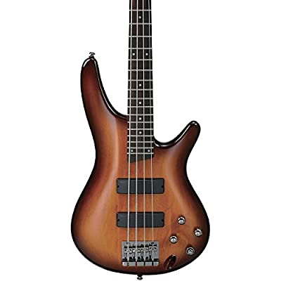 Ibanez SR370BBT 4-String Electric Bass Guitar, Brown Burst Finish