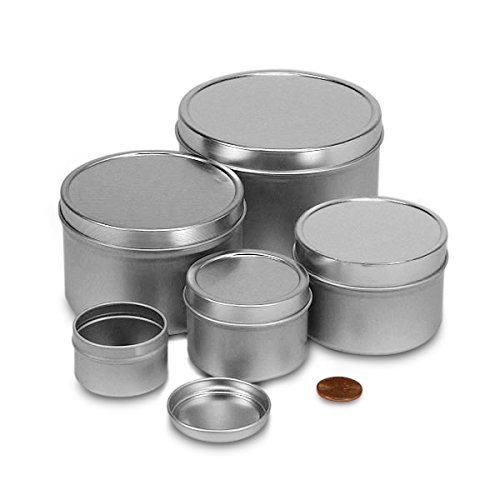2oz Deep Round Steel Tin Can | Quantity: 24
