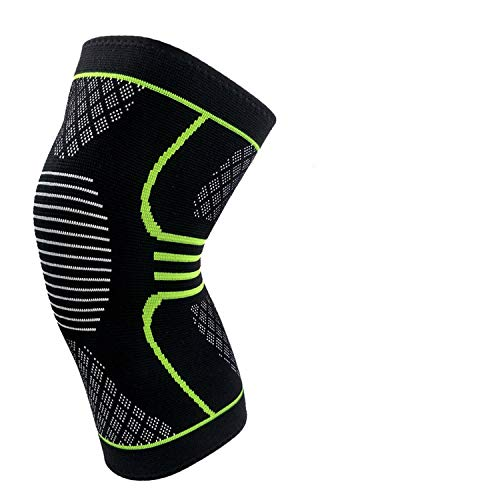 Talk about heaven 1 Pcs Knee Sleeve Support Protector Sport Kneepad Brand Fitness Running Cycling Braces High Elastic Gym Knee Pad Warm,Green,XL - One Derby Pro Insert