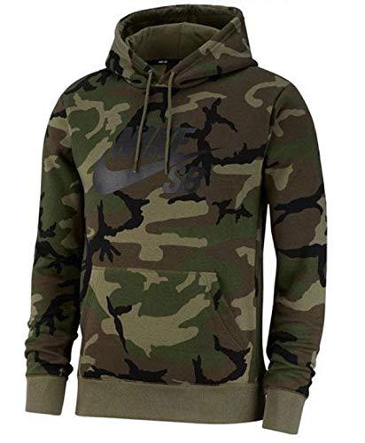 (Nike Mens M NK SB Hoodie ICON ERDL AT9755-222_L - Medium Olive/Medium Olive/Black)
