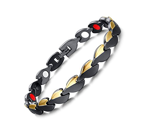 Two Tone Gold Jewelry Clasp Magnetic Energy Bracelet - 1