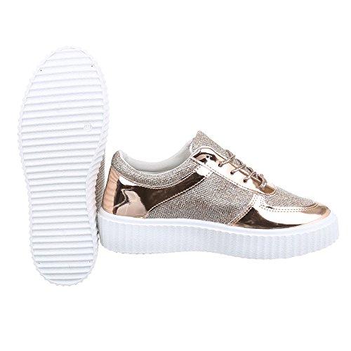Ital-Design - Zapatillas altas Mujer , color plateado, talla 41