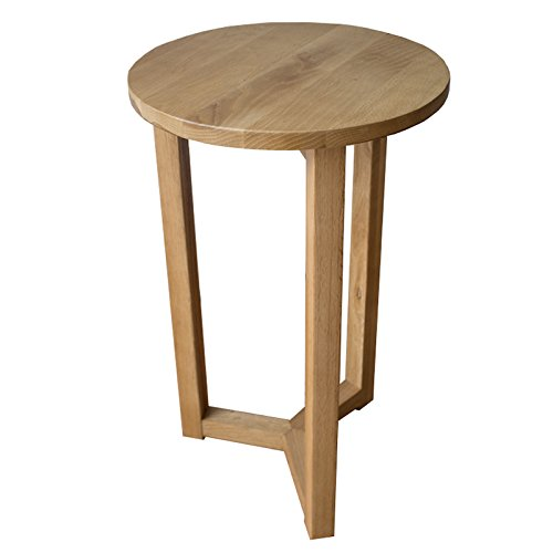 Merveilleux Yabbyou Solid Oak Tall Bedside Lamp Side Table Round Top 55cm High (Light  Oak): Amazon.co.uk: Kitchen U0026 Home