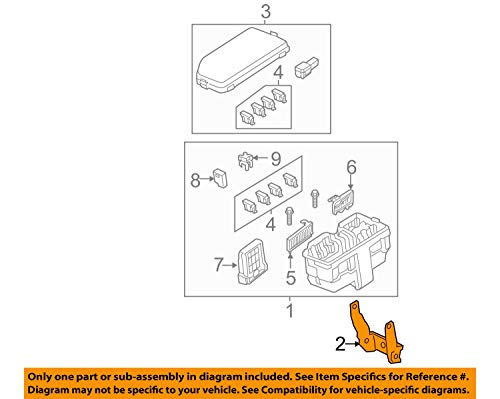 Genuine Honda 38252-T0A-A00 Relay Box (Rr) Bracket: