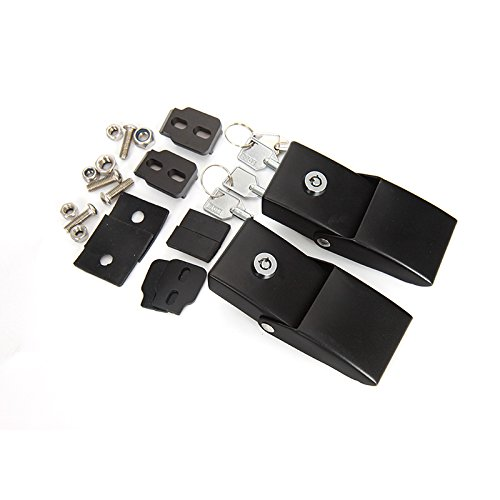 Black 1 Pair JeCar Steel Hood Latches Lock for Jeep Wrangler 2007-2018 JK JKU JL Unlimited Rubicon Sahara X Off Road Sport Exterior Accessories