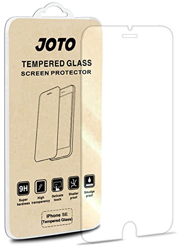 Apple iPhone SE 5S 5 5C Tempered Glass Screen Protector, JOTO iPhone SE Tempered Glass Screen Protector Film Guard Real Glass Screen Protector Cover for iPhone SE 5S 5 5C (1 Pack)