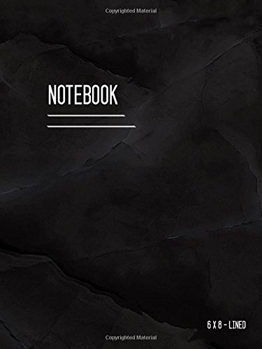 Lined Notebook 6x8: Marble Black, Journal Notebook with Date, Smart Design, Ruled, Medium, Soft Cover, Numbered Pages (Calligraphy Lined Notebook Medium) pdf epub