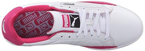 Puma Women's Match LO Basic Sports WN's Tennis Shoe, White/Dazzling Blue, 6.5 M US Puma White/Fuchsia Patent