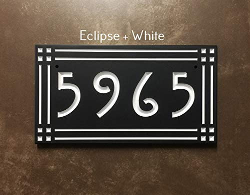 Mission Style Address Sign