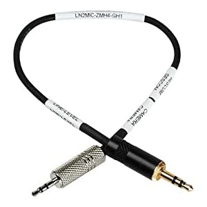 Sescom LN2MIC-ZMH4-GH1 2.5mm Line to Mic 25dB Attenuation Cable for Panasonic GH2 and GH1 DSLR to Zoom H4N Interface, 9 Inch