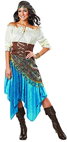 Fortune Teller Costume For Halloween (Fortune Teller Costume, Medium (8-10))