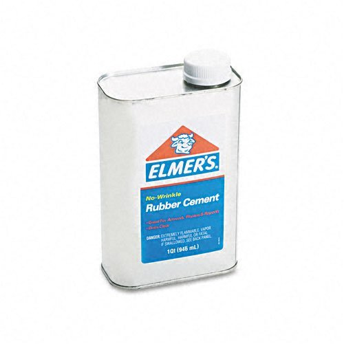 Elmer`s : Rubber Cement, Repositionable, 1 Qt -:- Sold as 2 Packs of - 1 - / - Total of 2 Each by Elmer's