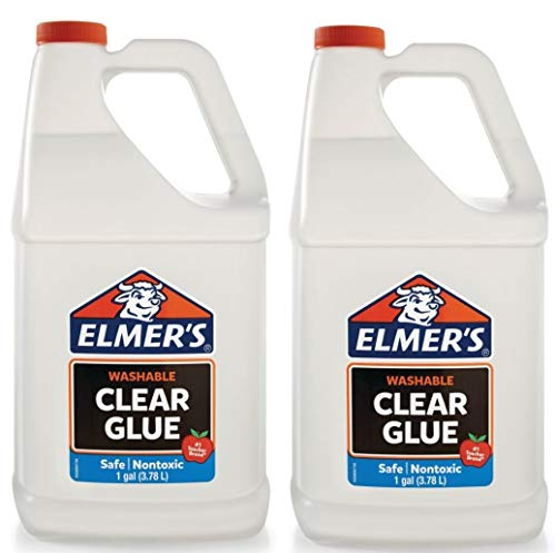 Elmers Liquid School Glue, Premium Clear, Washable, 2 Gallon