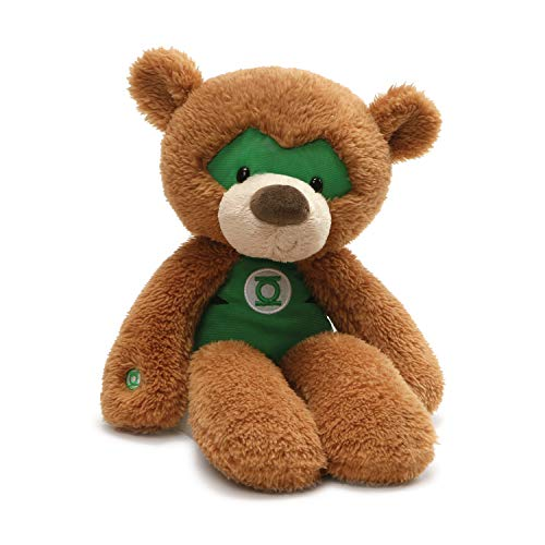 GUND DC Comics Universe Green Lantern Fuzzy Teddy Bear Stuffed Animal Plush, Brown, 14